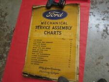 RARE original Early Ford V-8 Dealer Mechanical parts diagrams posters No Reserve