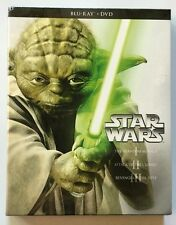 NEW STAR WARS PREQUEL TRILOGY EPISODES I II III BLU RAY DVD 6 DISC + SLIPBOX