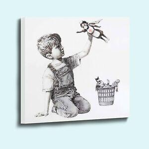 Banksy game changer NHS nurse superhero canvas wall art picture print