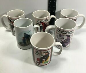 Norman Rockwell Saturday Evening Post Looking Out To Sea Coffee Mugs Cups