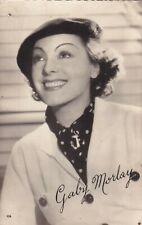 GABY  MORLAY - hollywood  MOVIE star  GLAMOUR  1950s  FAN  postcard