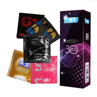 30Pcs Men Safety Natural Rubber Latex Condom Male Lubricated Oil Dotted Condoms