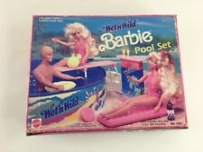 Vintage Wet n Wild Barbie Pool Set #7426 Mattel 1989 Incomplete w/ Original Box