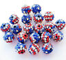 Lots 10X Rhinestone Crystal Pave Clay Disco Ball Loose Spacer Beads Finding 10MM
