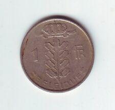 1955 Belgium 1 Franc Frank Coin Belgique Belgian European R-9