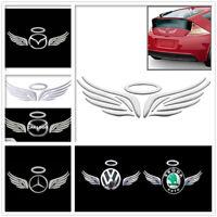 3D Funny Cute Angel Car Emblem Badge Decal Logo Sticker Car Truck Silver Chrome