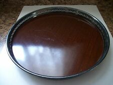 Vintage Crescent Silver Footed Bar Tray