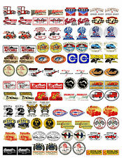 NOSTALGIC SPEED SHOP DECALS (1:18 SCALE, VOL. 1, A-G) GASSER, HOT ROD, RAT ROD
