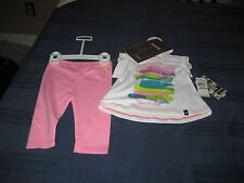 GIRLS HURLEY T SHIRT AND LEGGINGS SET SIZE 3/6 MONTH  NWT