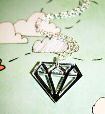DIAMANT Halskette Kette Diamond Scene Emo Rock spiegel