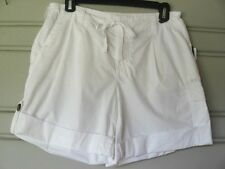 LIZ CLAIBORNE..WHITE...CARGO ROLL..DRAW STRING..COTTON..SHORTS..NWT..sz 6