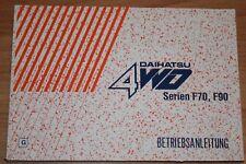 Daihatsu F70 F90 Betriebsanleitung  Bedienungsanleitung 1998