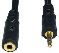15m Extra Largo Oro Auriculares estéreo Jack de extensión Plug para Socket De 3.5 mm Cable