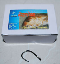 BULK 1/0 Live Bait Hooks. Box of 100. Jacks / Flathead