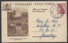 South Africa pictorial postal card ON MODDERRIVER BLOEMFONTEIN used 1952