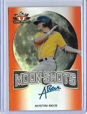 2017 Leaf Valiant Moon Shots Austin Beck Orange Prismatic RC Auto 16/25 A's