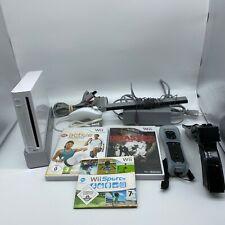 Nintendo Wii Konsole RVL-001 Weiß Gamecube Kompatibel + Controller + 3 Spiele