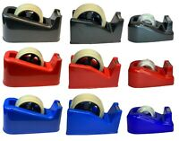 TAPE DISPENSER  HEAVY DUTY DESKTOP OFFICE SELLOTAPE CELLOTAPE PACK HOLDER UK