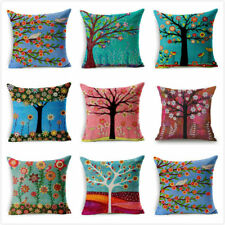 45cm*45cm Flower Pillow Case Cotton Linen Cushion Cover Sofa Bedroom Home Decor