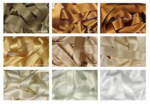 Berisfords Double Satin Ribbon Neutral Shades 8 Widths Short Lengths - Full Reel