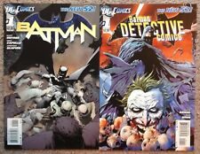 N52 Batman #1 + Detective Comics #1 High Grade