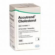 ACCUTREND Cholesterol for Control CHOLESTEROL @25 Test Strips Original ROCHE