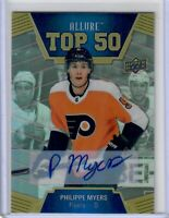2019-20 UPPER DECK .ALLURE PHILIPPE MYERS TOP 50  AUTO FLYERS RC HOT !!