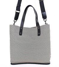 NEW $1400 DOLCE & GABBANA Mens Gray Cotton Leather Gym Travel Shoulder Hand Bag