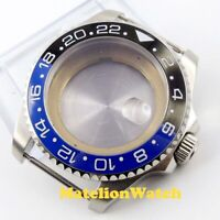 43mm Sapphire glass black blue ceramic bezel Watch Case fit Miyota 8215 movement