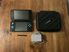 Nintendo 2DS XL Black/Turquoise Handheld System with Charger & Case - Tested!