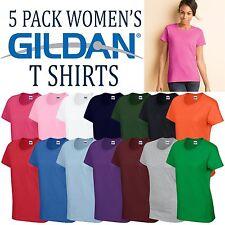 5 Pack Gildan Heavy Cotton T Shirt Womens Top Girls Ladies Wholesale Tee Tshirt