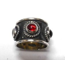 New Sterling Silver Hand Made in MEXICO Multi Gem Ring Antique VINTAGE RARE.