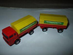 Matchbox Lesney Superfast TP-1 Mercedes Benz Truck & Trailer red VNMINT!