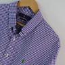Mens Ralph Lauren Purple Gingham Slim Fit Long Sleeve Shirt XL Extra Large