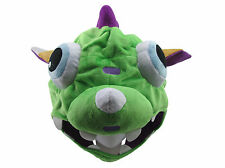 Made for LOL  Cosplay The Missing Link Gnar Green Plush cap dinosaur Hat