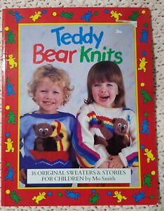Teddy Bear Knits Children Knitting Pattern Book -16 Sweater Patterns Mo Smith.