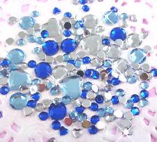 100 un. conjunto de Mezcla Pequeño Azul Rhinestone Flatback Decoden Adornos Crafts