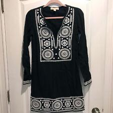 Michael Kors Women's US XXS black with white Sequin lined Dress