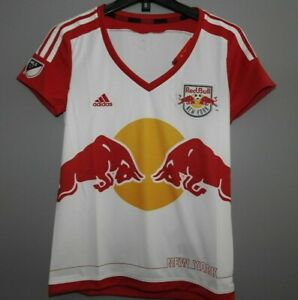 MLS New York Red Bulls Adidas Soccer Jersey New Womens Sizes