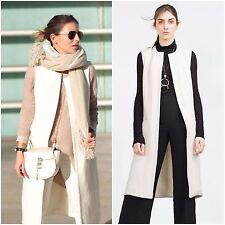 Zara Knee Length Wool Blend Casual Coats & Jackets for Women