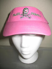 Jolly Roger Pirate Princess Pink  Visor hat cap