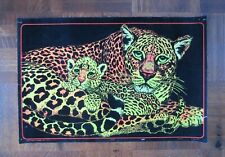 Vintage Leopard Black Light Poster