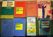 Eight assorted vintage radio & electronics books see pix for titles & condition