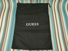 New canvas pouch gift bag Guess 34x22cm/deep drawstring black storage dust bags