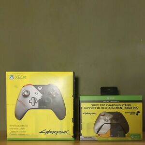 Limited Edition CYBERPUNK 2077 Controller & Xbox Pro Charging Stand New In Box