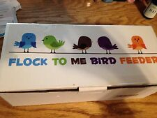 Flock To Me Flock To Me Bird Feeder. Clear