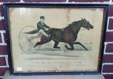 Grand Horse St. Julien King Trotters Authentic Currier & Ives 1880 Medium Folio