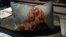 Cocker Spaniel Rectangular Tapestry Pillow ~ Artist, Linda Picken