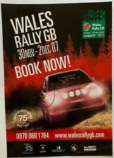 Matthew Wilson Hand Signed Welsh Rally Poster Rare Wales GB 2007.