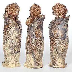 "Sculpture ""monk"" 23cm unique ceramic piece by Andreas Loeschner-Gornau"